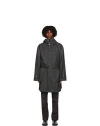 3MAN Grey Wool Herringbone Coat