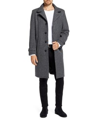 Schott NYC Herringbone Wool Blend Coat