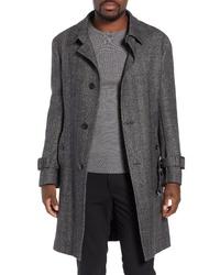 Samuelsohn Zelander Herringbone Wool Blend Coat