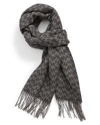 Canali Herringbone Silk Cashmere Scarf