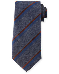 Herringbone stripe silk tie medium 700176