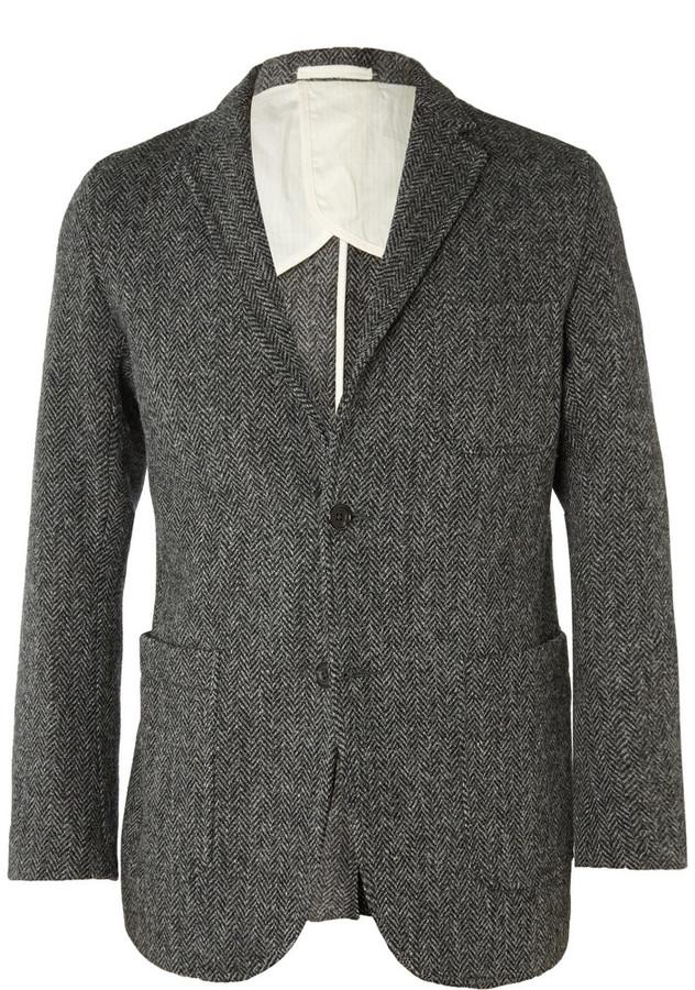 a15fa7d40c191 ... Beams Plus Harris Tweed Herringbone Blazer ...