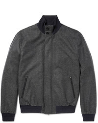 Ermenegildo Zegna Herringbone Trofeo Wool And Cashmere Blend Bomber Jacket