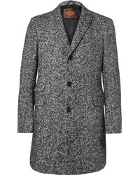 Tod's Slim Fit Herringbone Virgin Wool Blend Coat