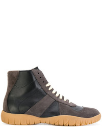 Charcoal High Top Sneakers