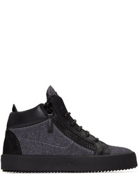 Grey london high top sneakers medium 695463