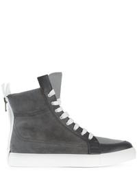 Kris Van Assche High Top Lace Up Sneakers