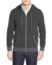 Ag archer wool cashmere zip front hoodie medium 452147