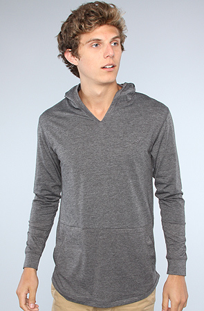Arsnl The Sebastien Lightweight Pullover Hoodie In Charcoal ...