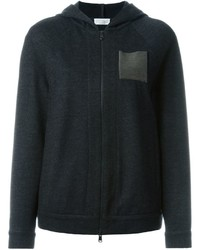 Brunello Cucinelli Metallic Pocket Zipped Hoodie