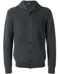 Eleventy Buttoned Hooded Cardigan