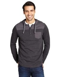 Howe Charcoal Striped Cotton Blend Pistel Whip Hoodie
