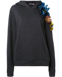 Christopher Kane Cut Out Flower Hoodie