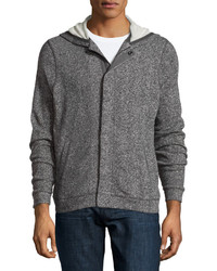 Joe's Jeans Heathered Cotton Knit Hoodie Heathercharcoal