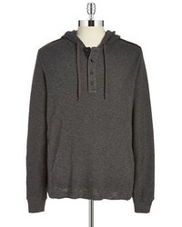 DKNY Jeans Textured Hooded Sweater
