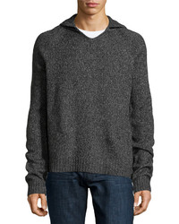Joe's Jeans Knit Wool Blend Hoodie Pullover Heathercharcoal