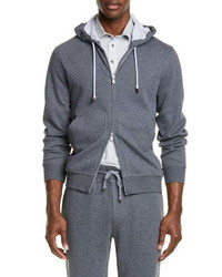 Brunello Cucinelli Leisure Hooded Cotton Blend Sweatshirt