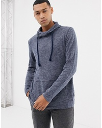 Esprit Relaxed Shawl Collar Sweat In Navy