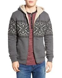 Siberian faux shearling lined hoodie medium 1161685