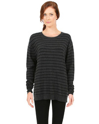 Pam And Gela Stripe Sweater In Charcoalblack
