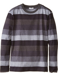 Dolce & Gabbana Printed Stripe Long Sleeve T Shirt T Shirt