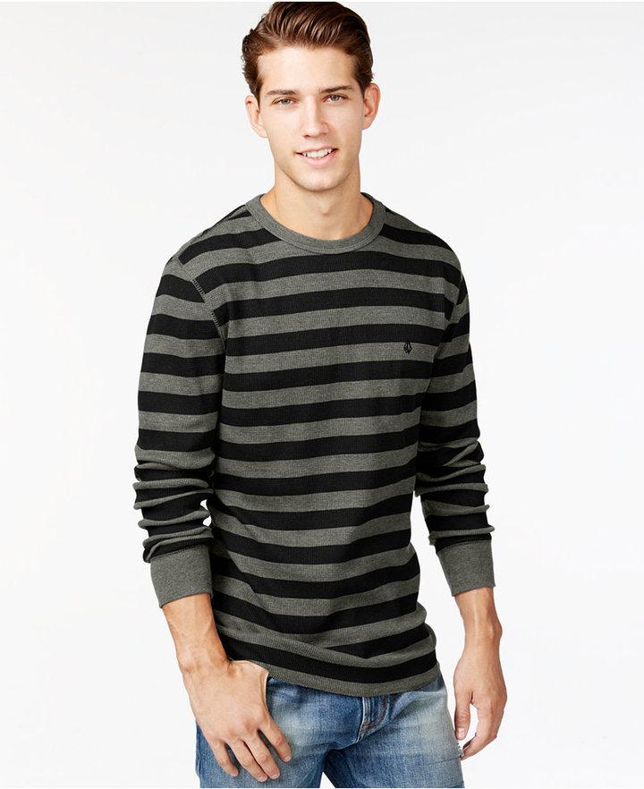 448ac7094 Volcom Royceeo Stripe Thermal Long Sleeve T Shirt, $29 | Macy's ...