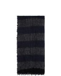 Yohji Yamamoto Black Needle Punch Scarf