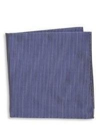 Armani Collezioni Thin Stripe Silk Pocket Square