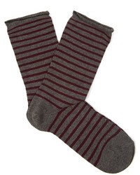 Falke Striped Cotton Blend Socks