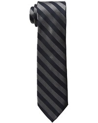 Calvin Klein Satin Graphite Bar Stripe Ties