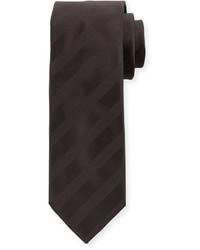 Brioni Striped Tie Blacklight Gray