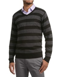 Specially Made Textured V Neck Sweater