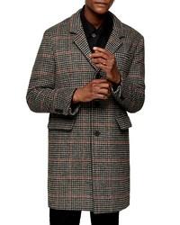 Charcoal Houndstooth Overcoat