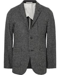 Beams Plus Slim Fit Houndstooth Harris Wool Tweed Blazer