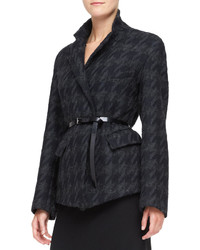 Belted convertible jacket blackcharcoal medium 117211