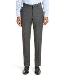 Z Zegna Flat Front Houndstooth Wool Trousers