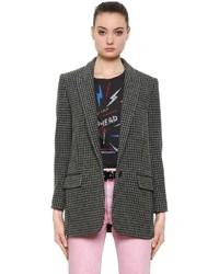 Etoile Isabel Marant Ice Wool Blend Houndstooth Jacket