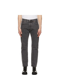 Levis Black Faded 501 93 Straight Jeans