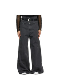 Raf Simons Black Oversized Wide Jeans