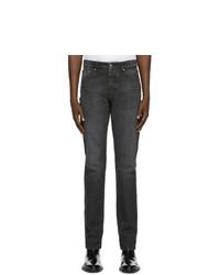 AMI Alexandre Mattiussi Black Slim Fit Jeans