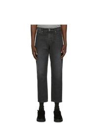 AMI Alexandre Mattiussi Black Tapered Fit Jeans