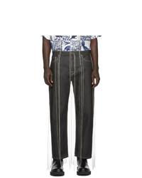 Valentino Black Vltn Fringe Jeans