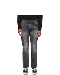 Neighborhood Black Washed Deep Narrow Jeans