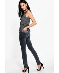 Boohoo Carla Utility Skinny Embellished Pocket Jeans