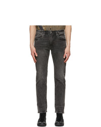 Levis Grey 502 Taper Flex Jeans