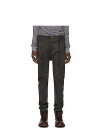 Boris Bidjan Saberi Grey Double Dyed Jeans