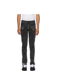 Off-White Grey Logo Contour Slim Jeans