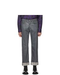Dries Van Noten Grey Panthero Bis Jeans