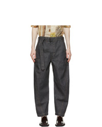 Lemaire Grey Twisted Jeans