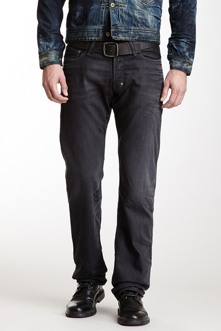 Charcoal Jeans: PRPS Barracuda Straight Leg Jean
